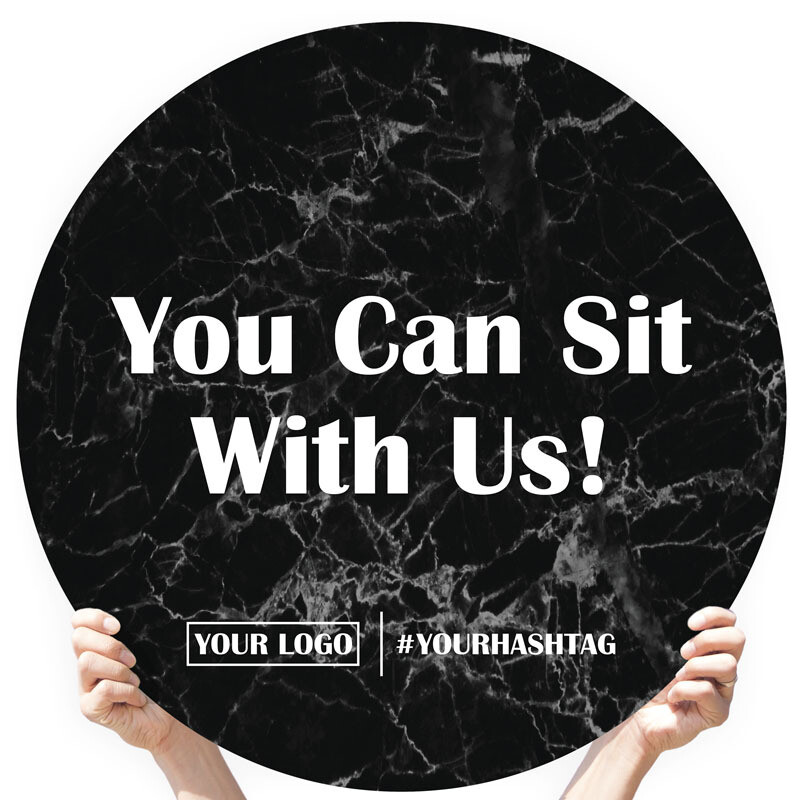 """Marble Greeting Sign - """"You Can Sit With Us!"""""""
