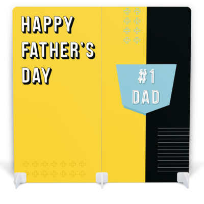 Father's Day Photo Booth with Props - #1 Dad