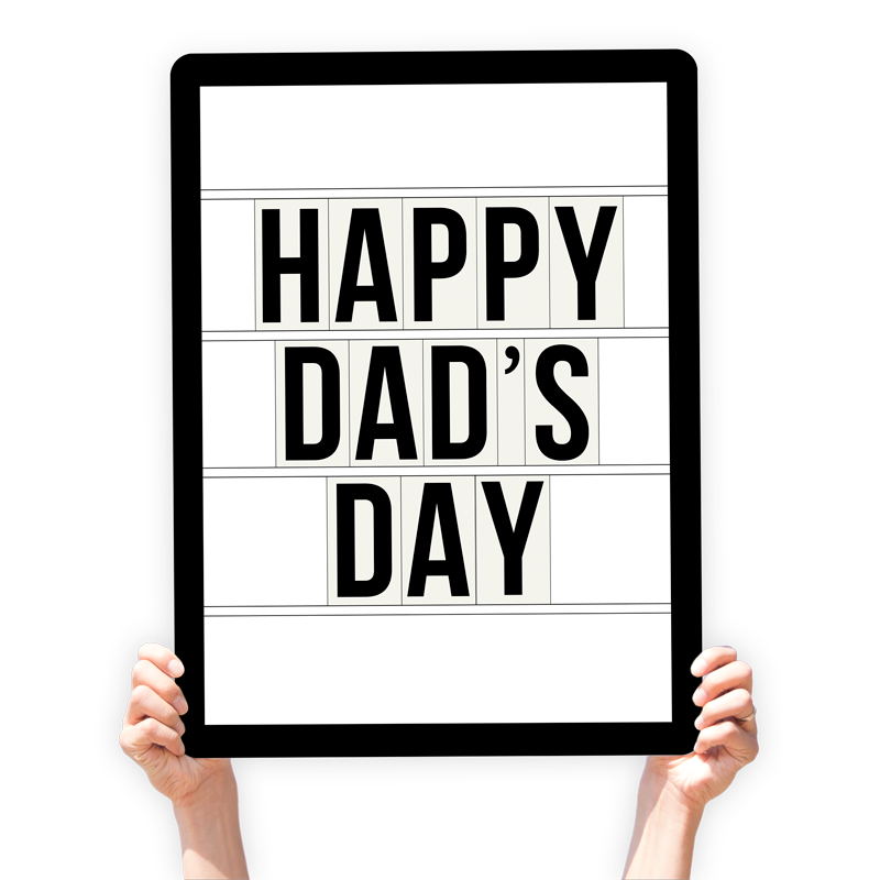 "Father's Day Greeting Sign - ""Happy Dad's Day"" (Marquee)"