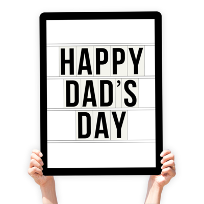 """Father's Day Greeting Sign - """"Happy Dad's Day"""" (Marquee)"""
