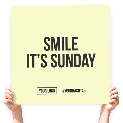 """Greeting Sign - """"Smile It's Sunday"""""""