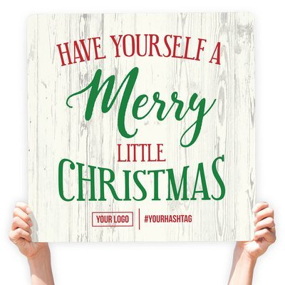 """Christmas Greeting Sign - """"Have Yourself A Merry Little Christmas"""""""