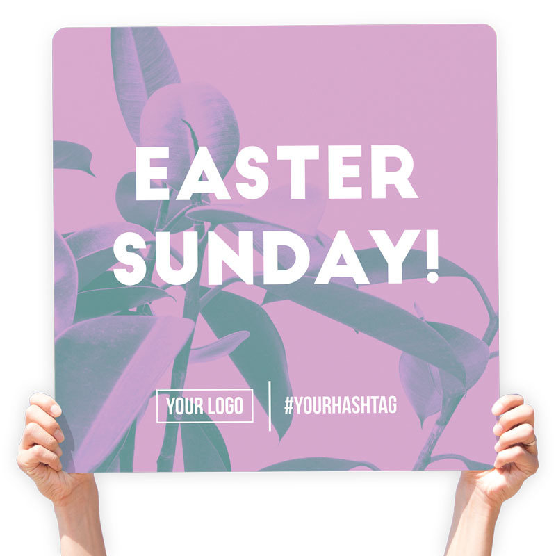 """Easter Greeting Sign - """"Easter Sunday!"""""""