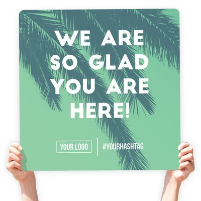 """Easter Greeting Sign - """"We Are So Glad You Are Here!"""""""