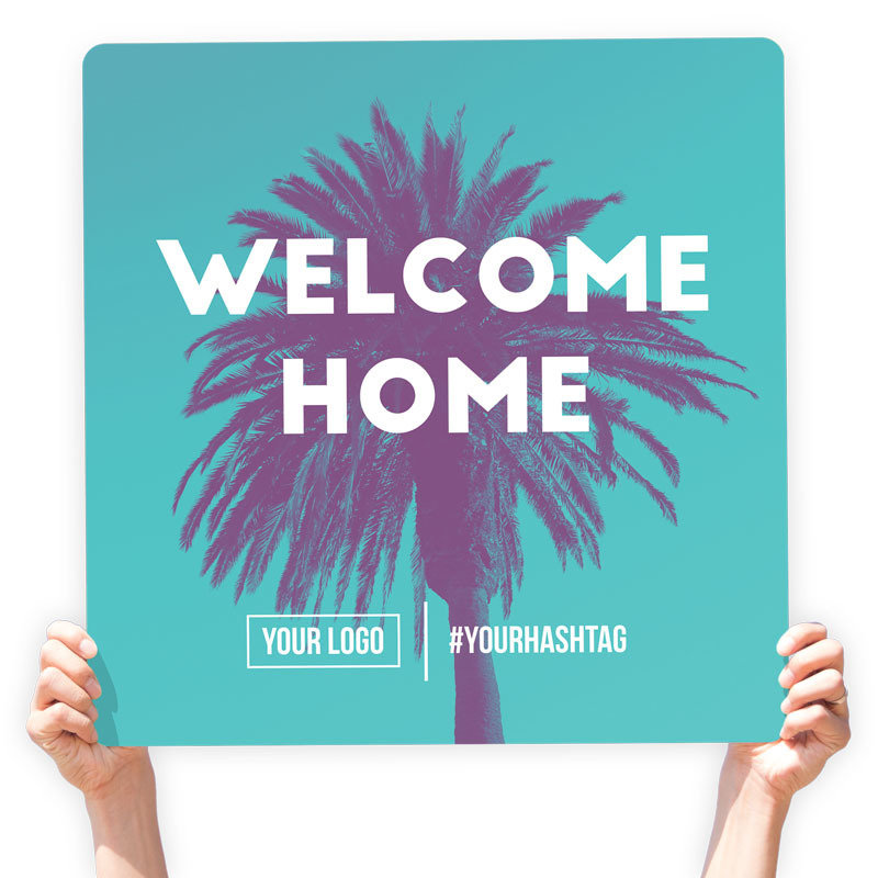 "Easter Greeting Sign - ""Welcome Home!"""