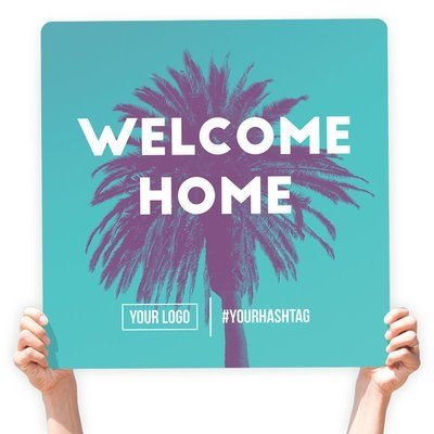 """Easter Greeting Sign - """"Welcome Home!"""""""