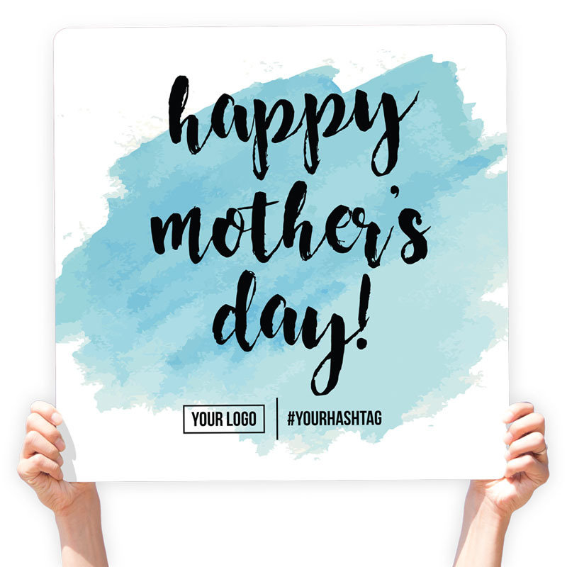 "Mother's Day Greeting Sign - ""Happy Mother's Day"" (Blue)"