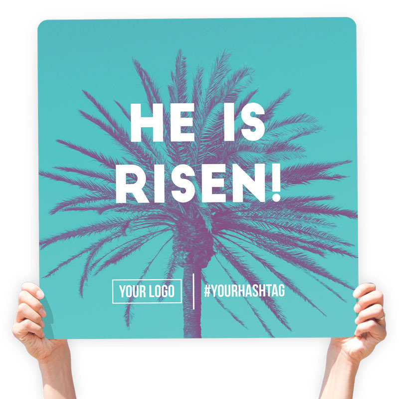 "Easter Greeting Sign - ""He Is Risen!"""