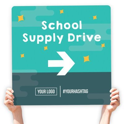 School Supply Drive Directional Signs