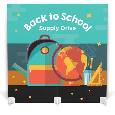 School Supply Drive Double Panel