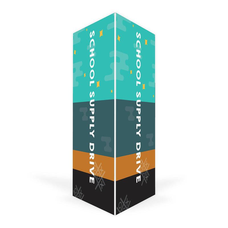 School Supply Drive Triangle Column (4 ft.)