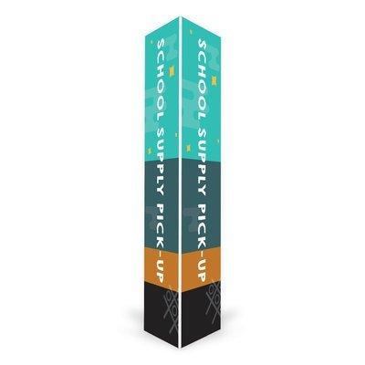 School Supply Pick-Up Triangle Column (2 ft.)