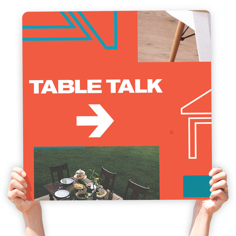 Table Talk Directional Signs (Throwback )