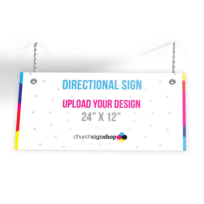 """Directional Sign (24"""" X 12"""")"""