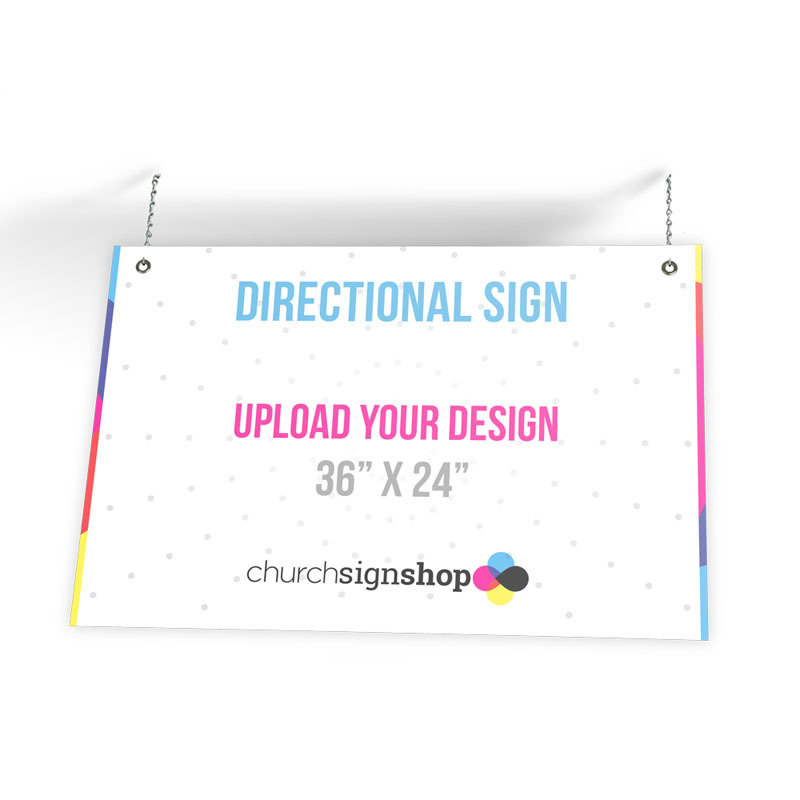 """Directional Sign (36"""" x 24"""")"""