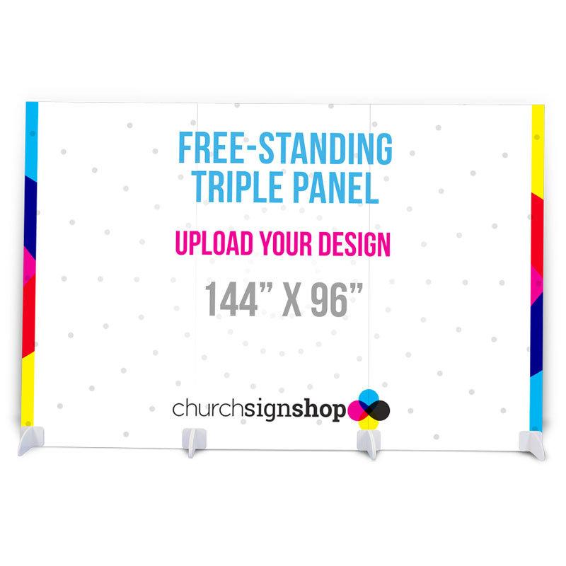 Free-Standing Triple Panel