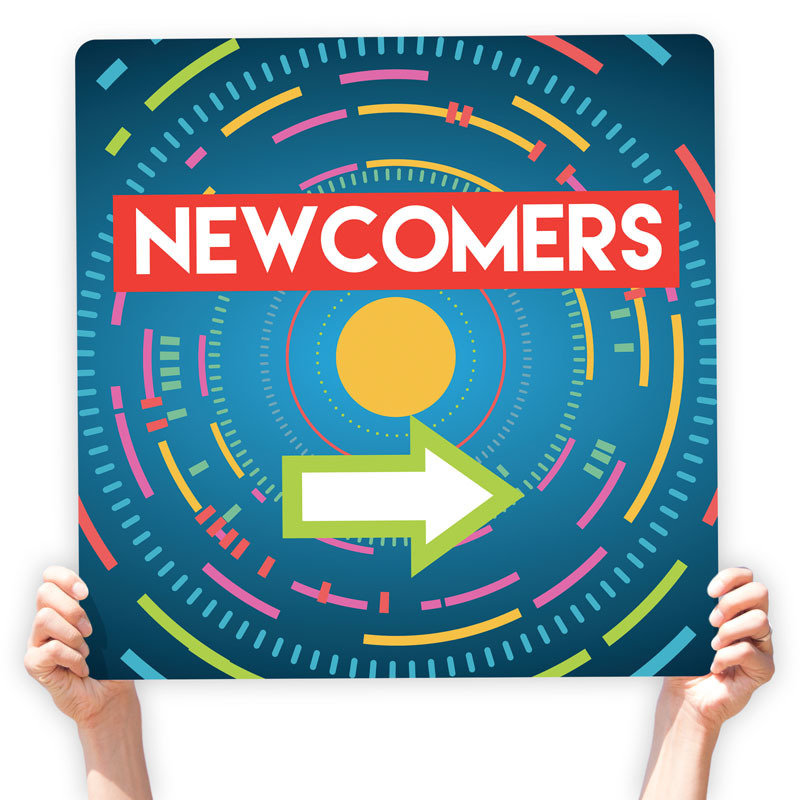 Newcomers Directional Signs