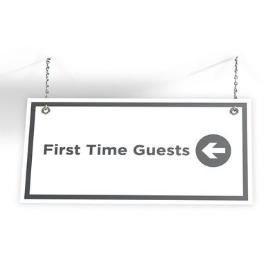 First Time Guest Directional Sign (24