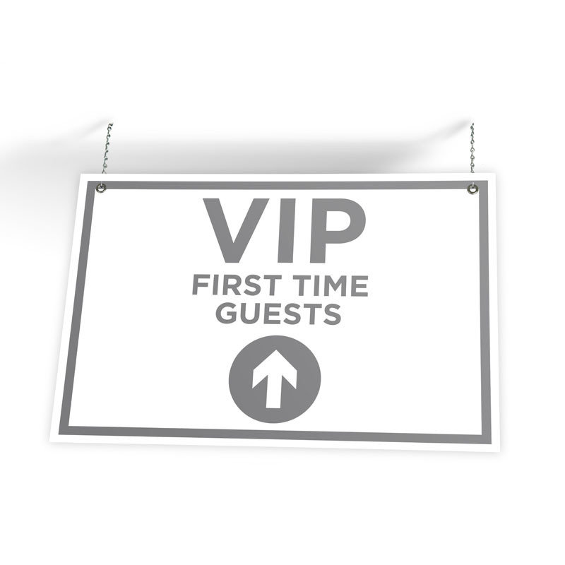 "First Time Guest Directional Sign (36"" X 24"")"