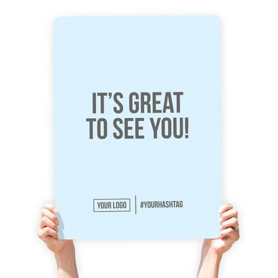"""Greeting Sign - """"It's Great To See You!"""""""