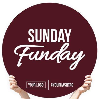"""Greeting Sign - """"Sunday Funday"""""""