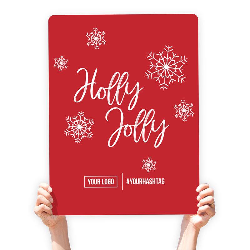 "Christmas Greeting Sign - ""Holly Jolly"""