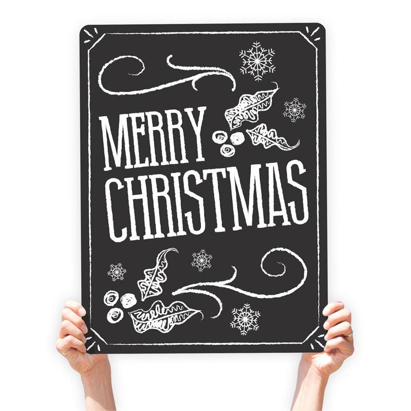 """Christmas Greeting Sign - """"Merry Christmas"""" (Chalkboard)"""