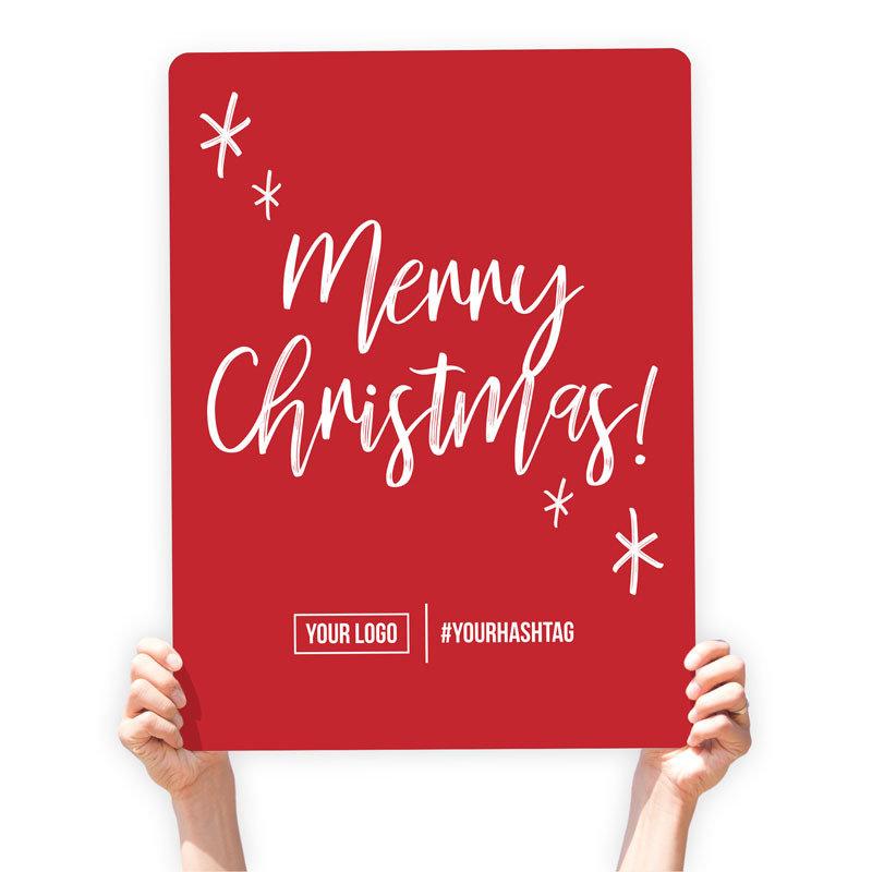 """Christmas Greeting Sign - """"Merry Christmas"""" (Stars)"""