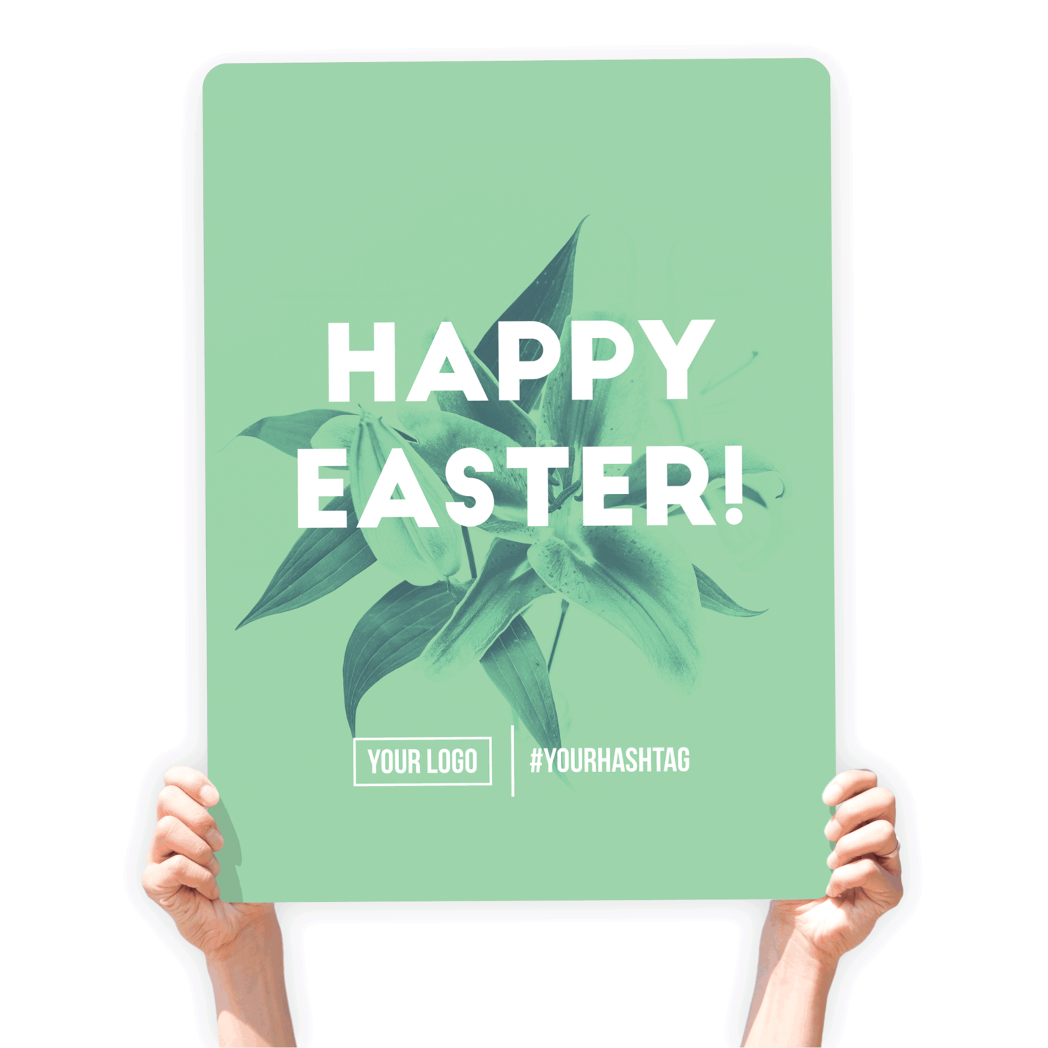 """Easter Greeting Sign - """"Happy Easter!"""" (Green)"""