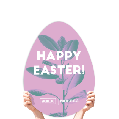 """Easter Greeting Sign - """"Happy Easter!"""" (Purple)"""