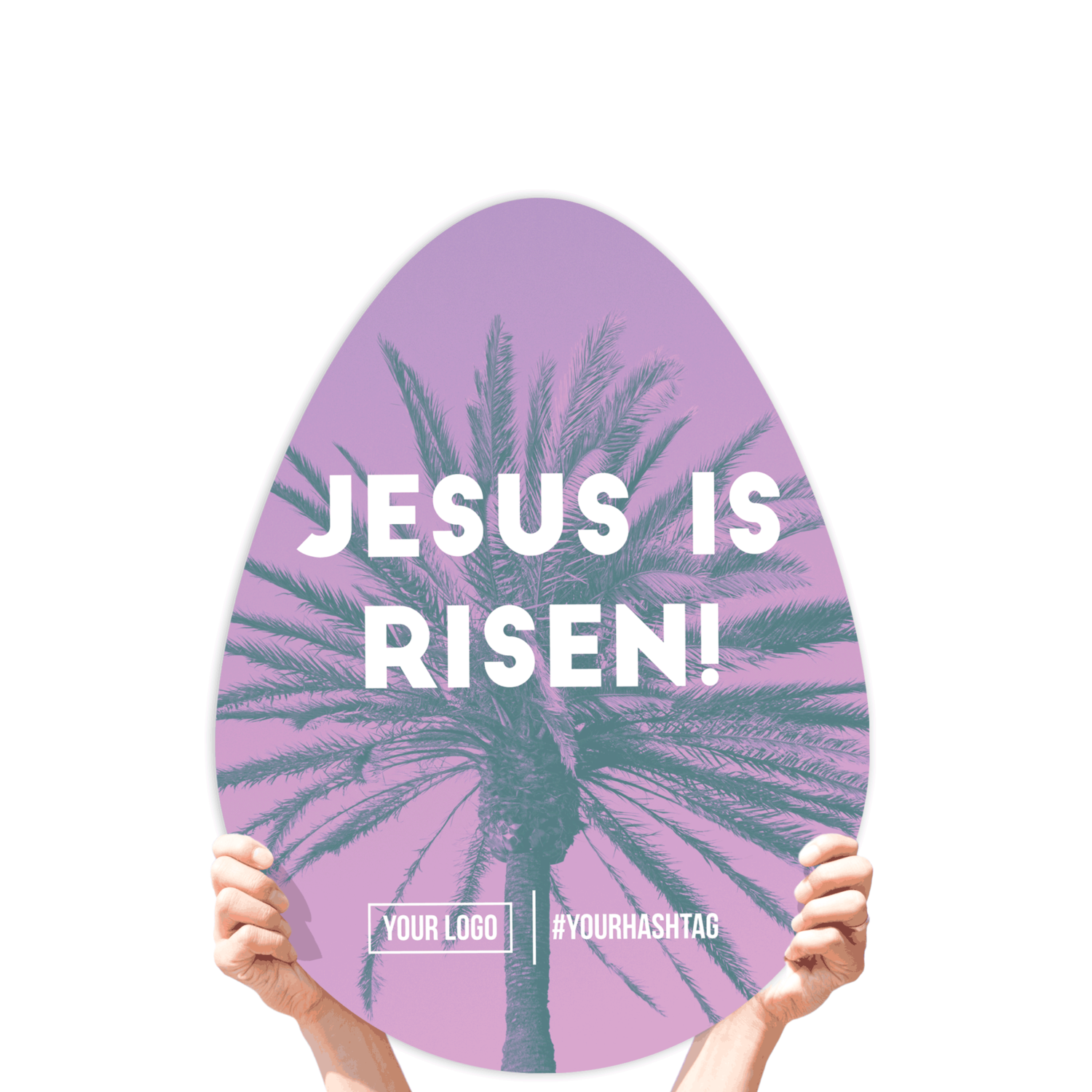 "Easter Greeting Sign - ""Jesus Is Risen!"""
