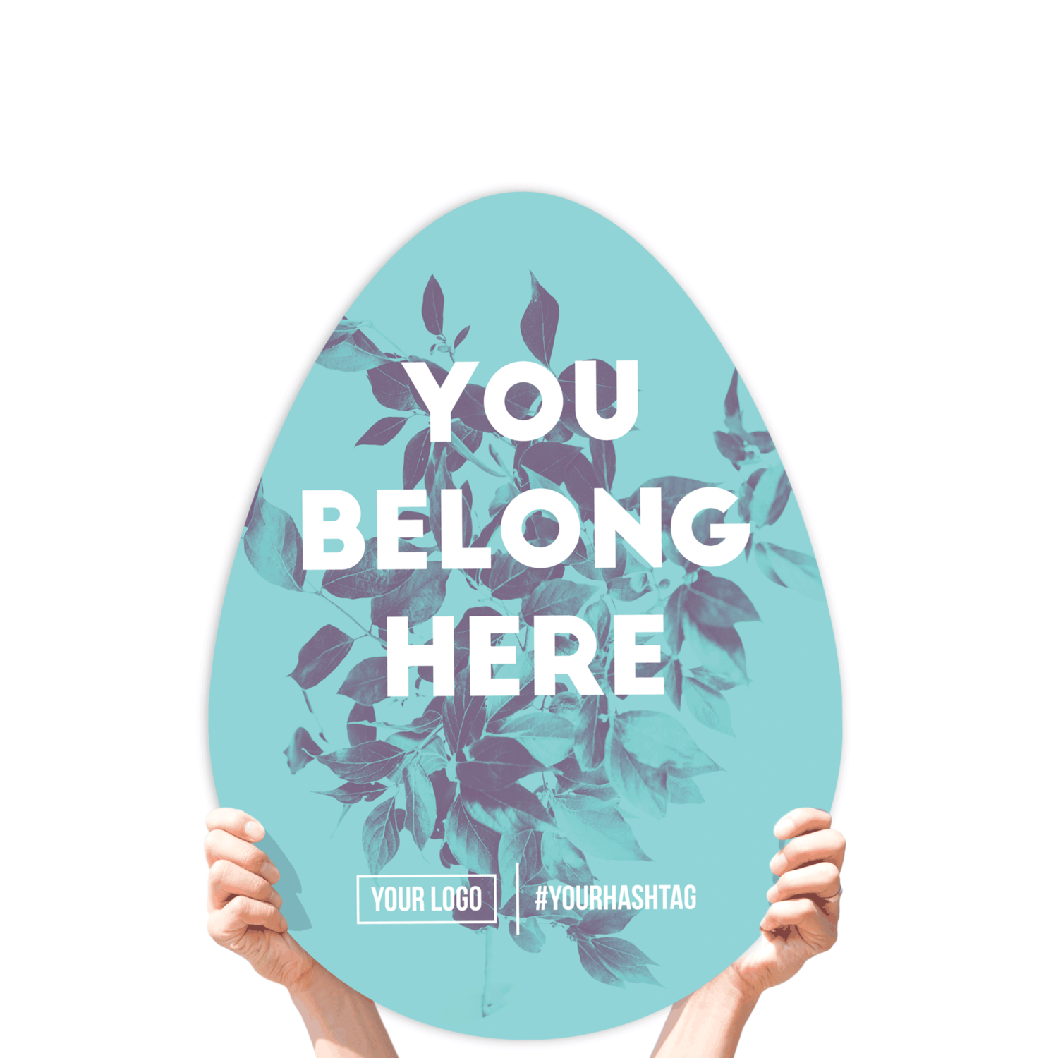 "Easter Greeting Sign - ""You Belong Here!"""