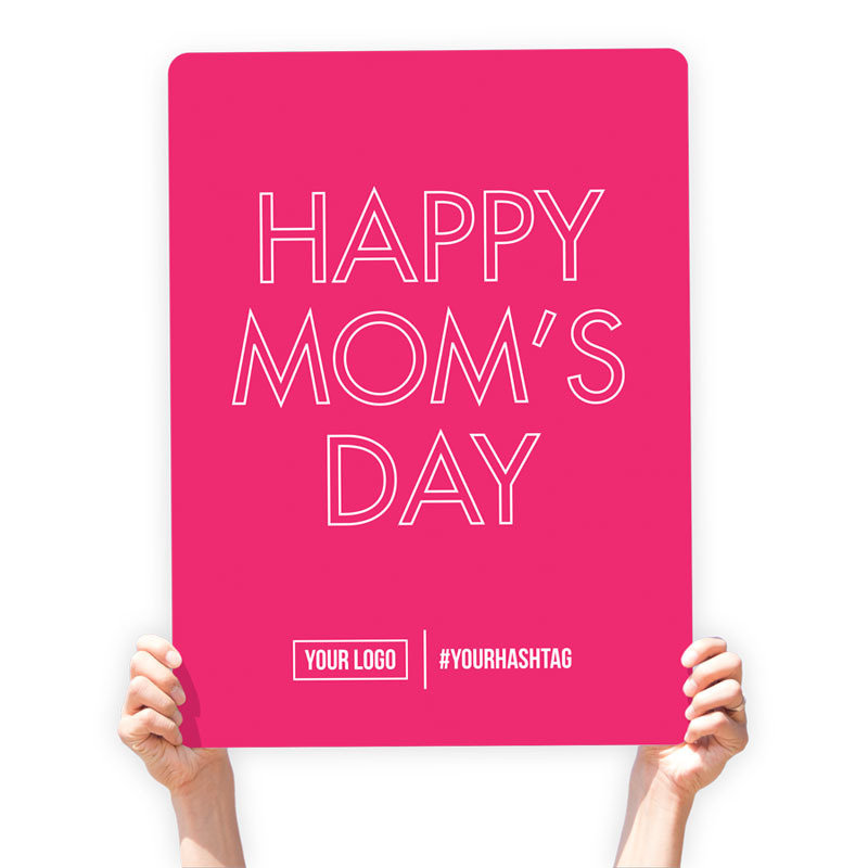 """Mother's Day Greeting Sign - """"Happy Mom's Day"""""""