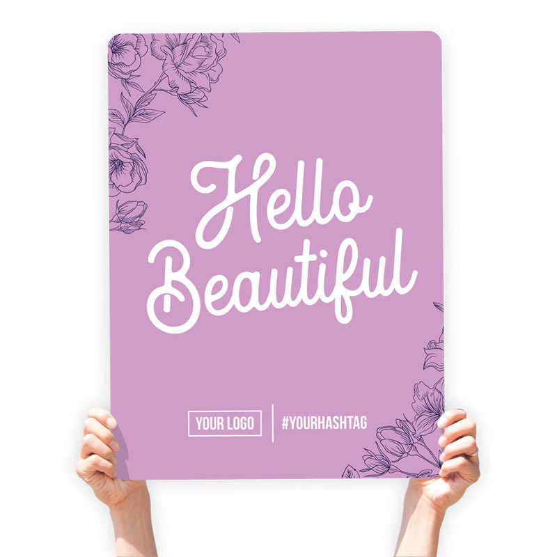 "Mother's Day Greeting Sign - ""Hello Beautiful"""