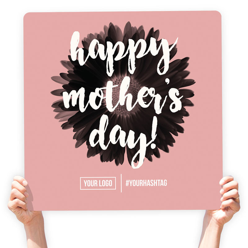"""Mother's Day Greeting Sign - """"Happy Mother's Day"""" (Pink)"""