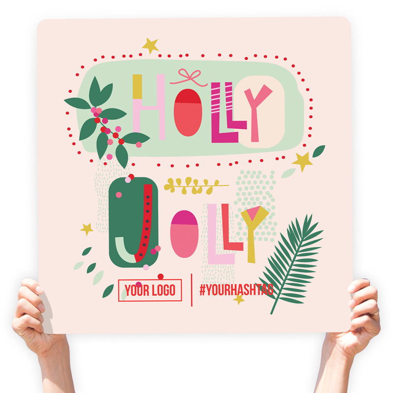 """Christmas Greeting Sign - """"Holly Jolly"""" (Eclectic)"""
