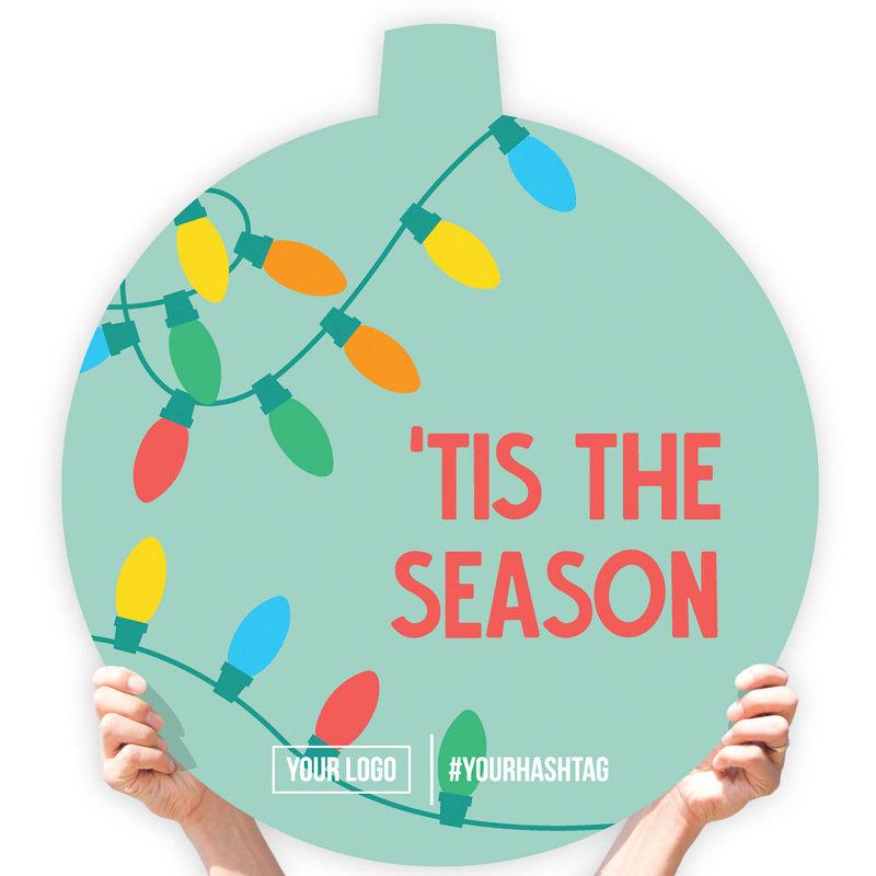 """Christmas Greeting Sign - """"Tis the Season"""" (Lights)"""