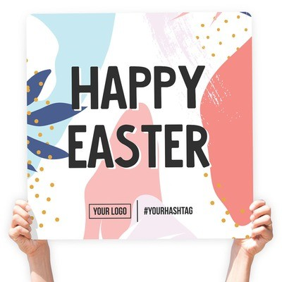 """Easter Greeting Sign - """"Happy Easter"""" (Abstract)"""