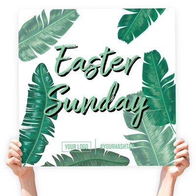 """Easter Greeting Sign - """"Easter Sunday"""" (Feathers)"""