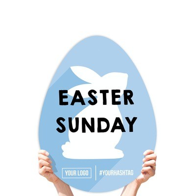 """Easter Greeting Sign - """"Easter Sunday"""" (Easter Bunny)"""