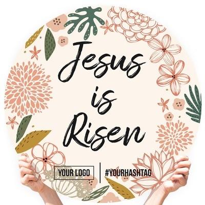 "Easter Greeting Sign - ""Jesus is Risen (Western Floral)"