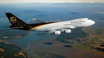 UPS luchtvracht zending