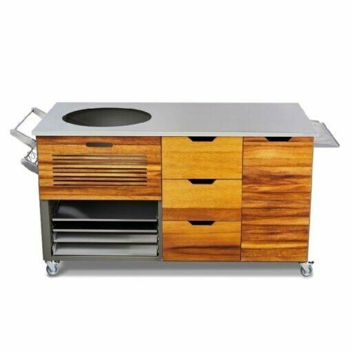Pro Kamado Buitenkeuken - Kookeiland Iroko (Exotisch Afrikaans hout)