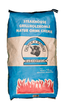 Black Ranch houtskool, Quebracho Blanco (Premium Quality) / Steeneik
