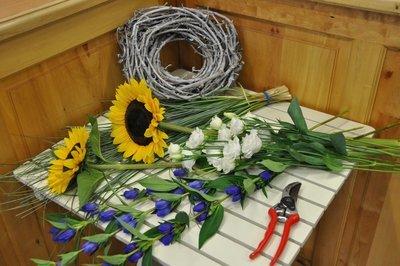 Bouquet Ton blanc et bleu - A partir de