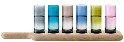 Lsa International Shot Glasses On Wood Paddle