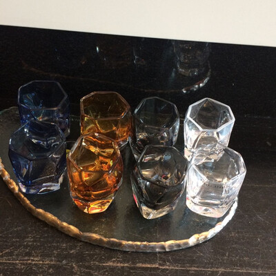 Nouvel 6 Shots Glasses 2 Clear 2 Amber 2 Smoke