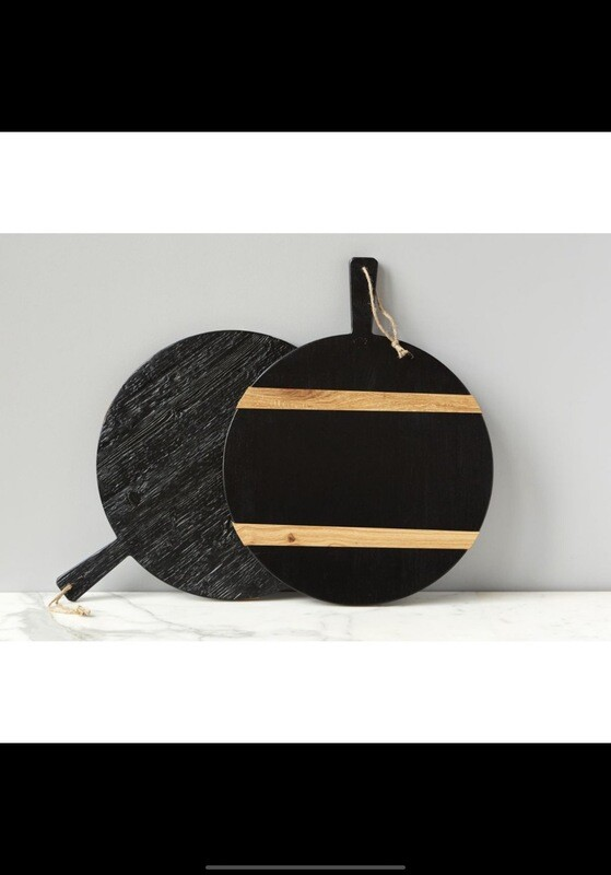 Etu Round Medium Black Charcuterie Board