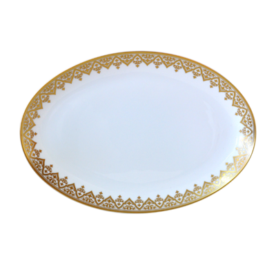 BERNARDAUD FRANCE VENISE Oval Platter 15″
