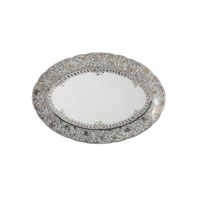 BERNARDAUD FRANCE EDEN PLATINUM Oval Platter 13″